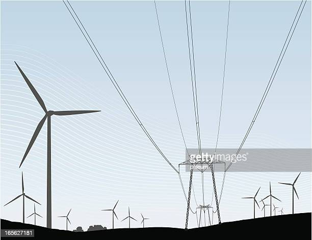 Wind turbines and Power lines