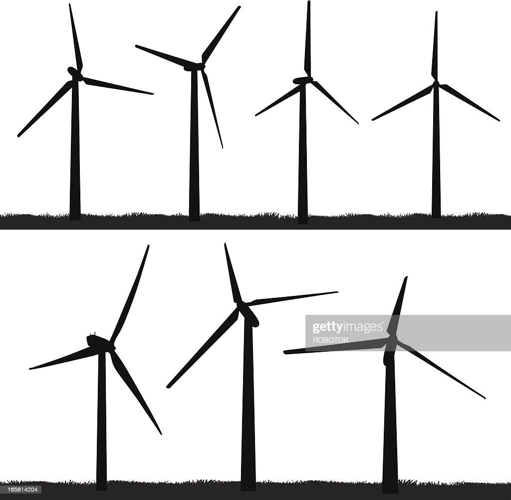 Wind Turbines Vector Art Getty Images Power Turbine Diagram