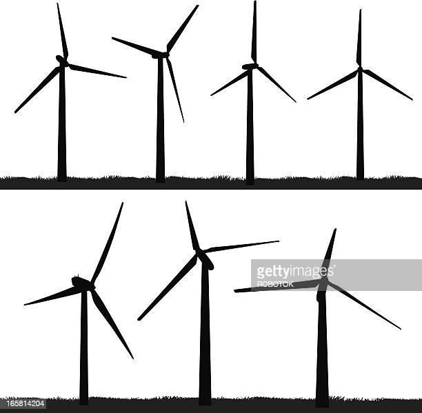 wind turbines - turbine stock illustrations, clip art, cartoons, & icons
