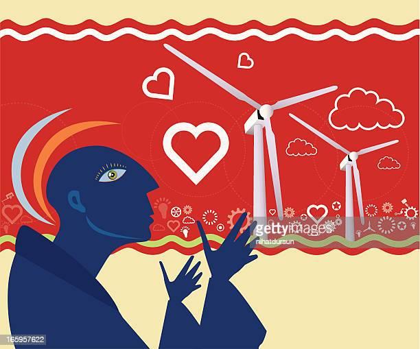 Wind Turbines with People