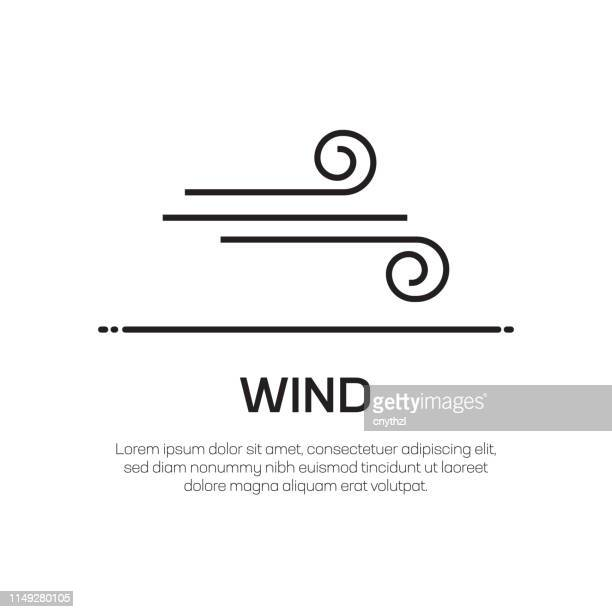 wind vector line icon - simple thin line icon, premium quality design element - wind stock illustrations