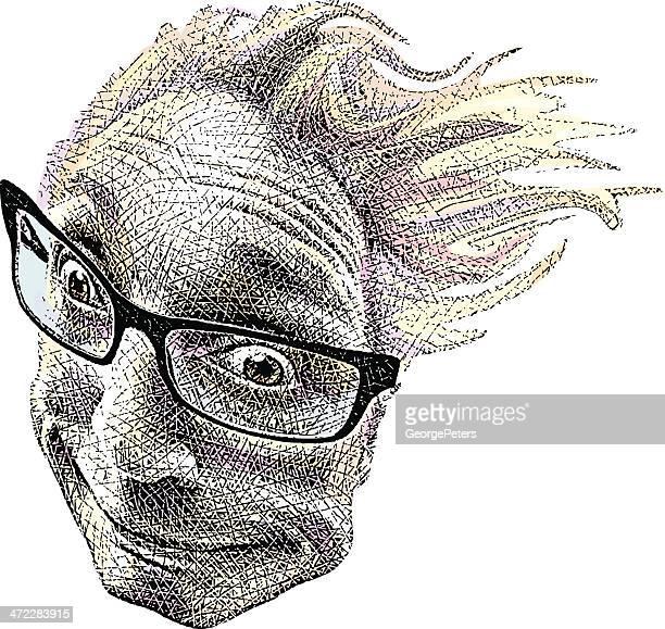 windblown face - gasping stock illustrations, clip art, cartoons, & icons