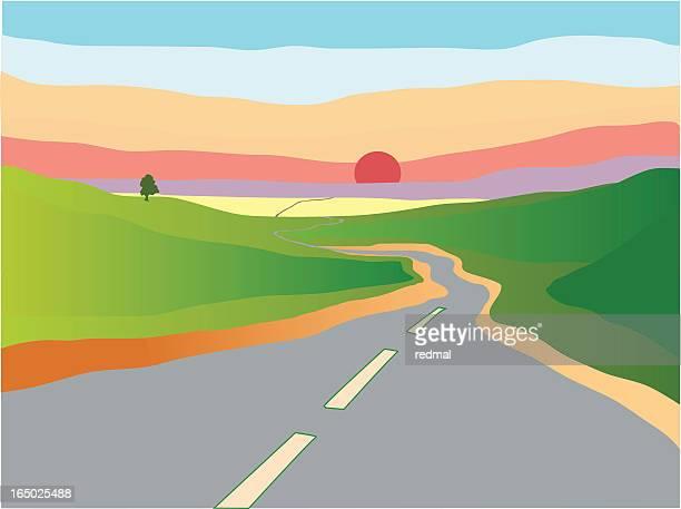 Illustrations et dessins anim s de route de campagne - Dessin de route ...