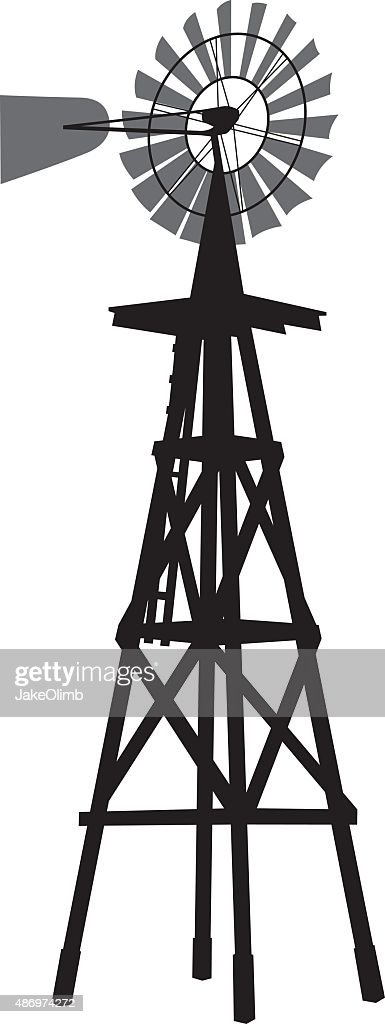windmill silhouette vector art getty images
