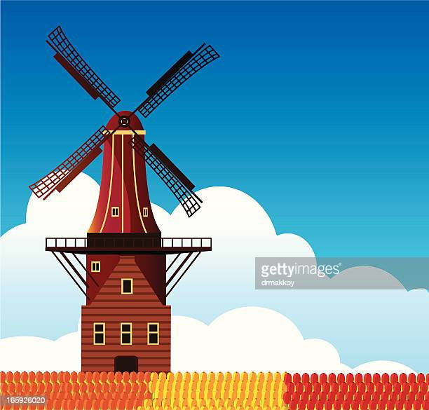 windmill - turbine stock illustrations, clip art, cartoons, & icons