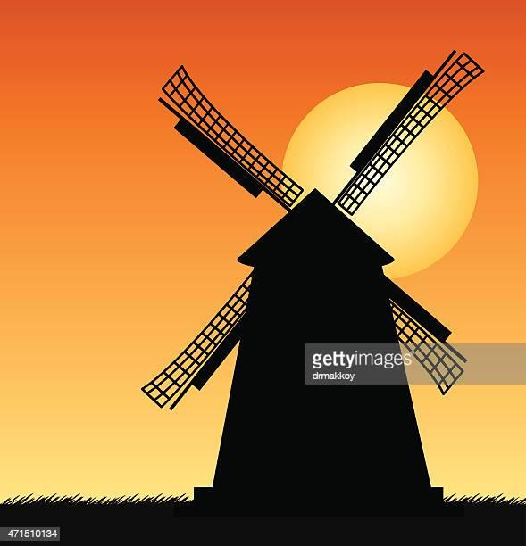 ilustraciones, imágenes clip art, dibujos animados e iconos de stock de molino de viento - molino de viento
