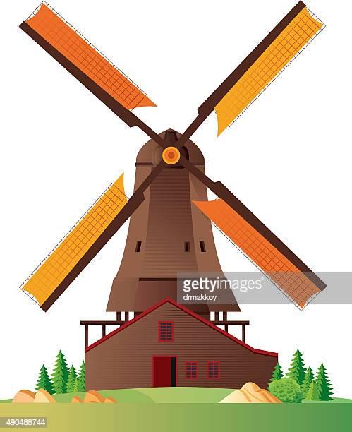 風車 - 風車塔点のイラスト素材/クリップアート素材/マンガ素材/アイコン素材