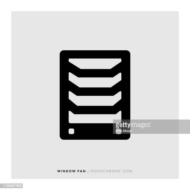 window fan icon - medical ventilator stock illustrations, clip art, cartoons, & icons