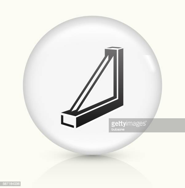 Window frame icon on white round vector button