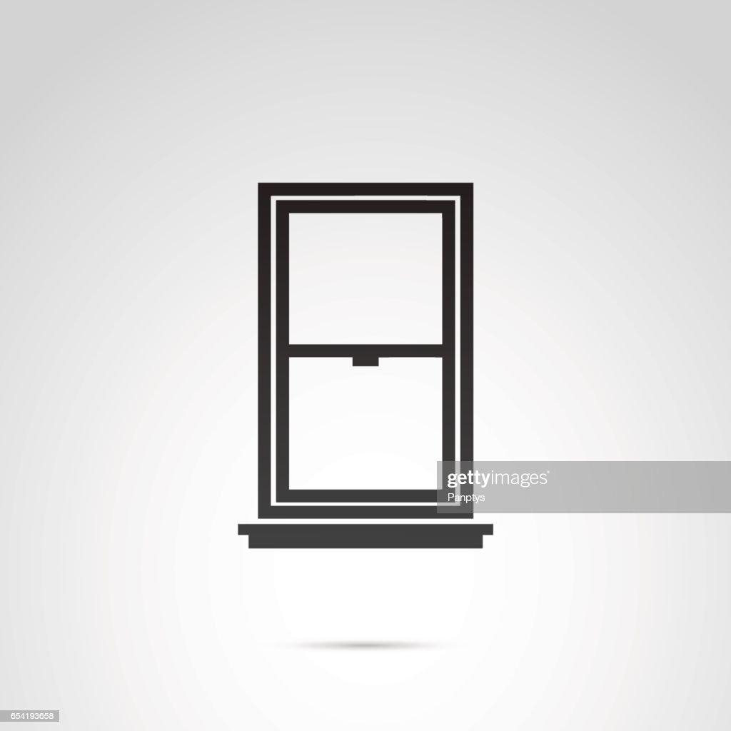 Window icon on white background.