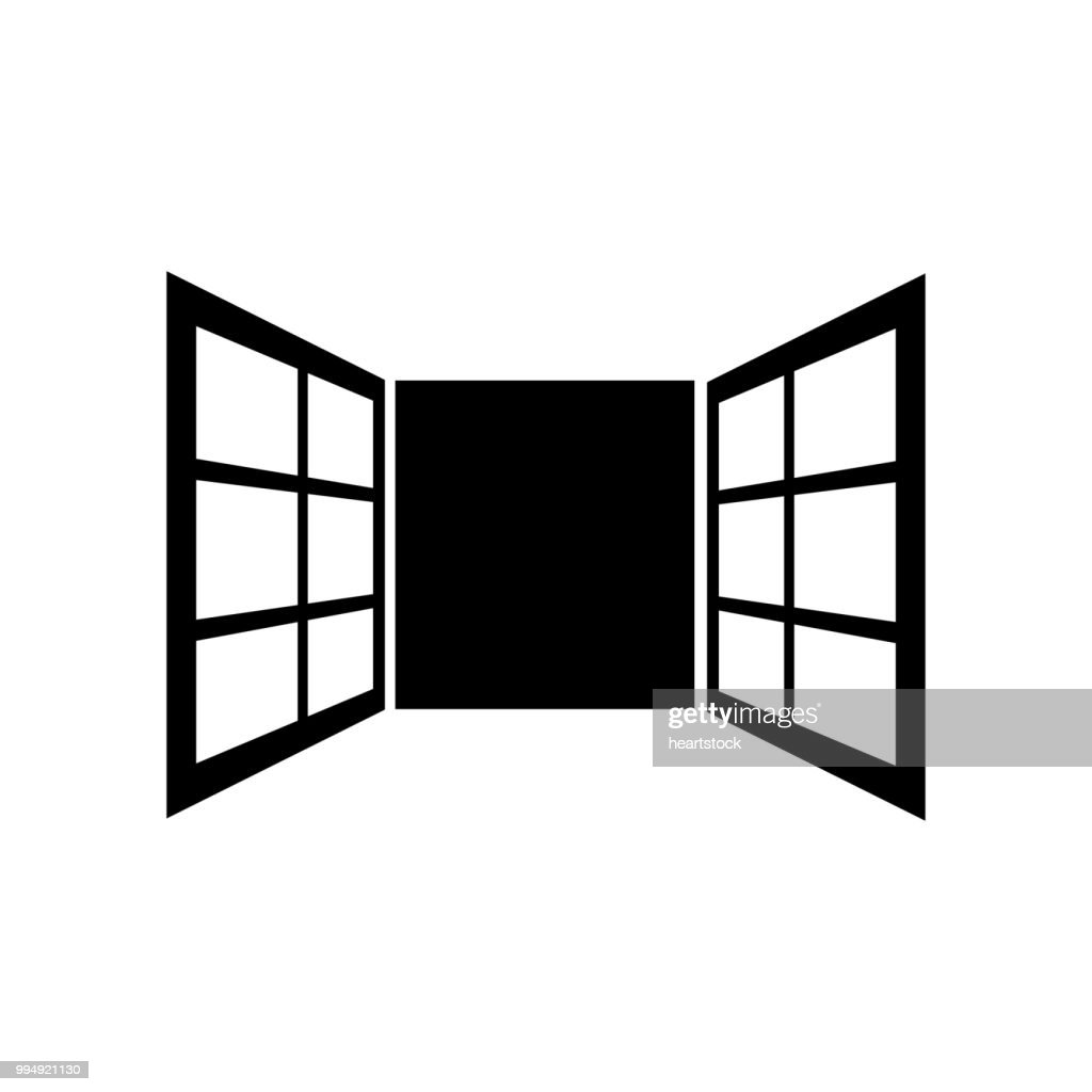 Window icon vector icon. Simple element illustration. Window symbol design. Can be used for web and mobile.