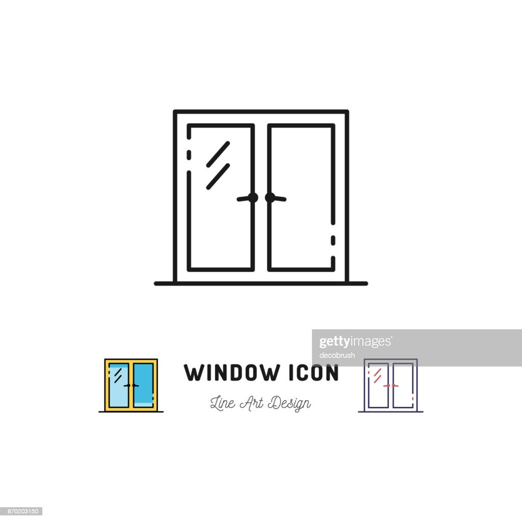 Window icon, Vector line art symbol
