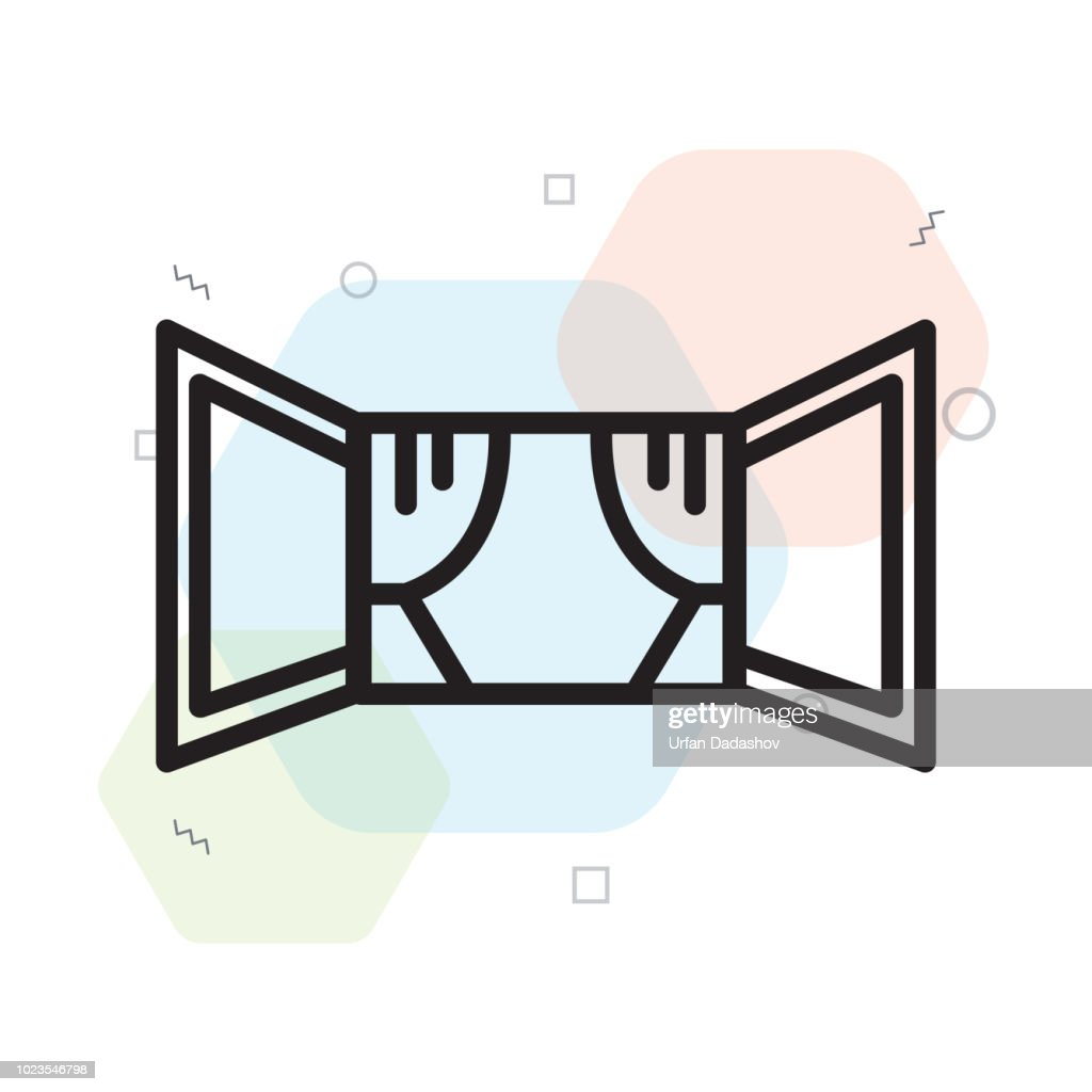 Window icon vector sign and symbol isolated on white background, Window logo concept