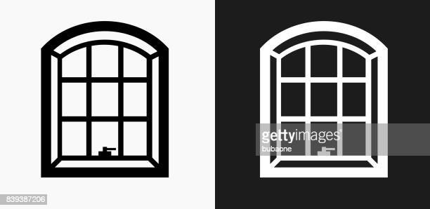 Windows Icon on Black and White Vector Backgrounds