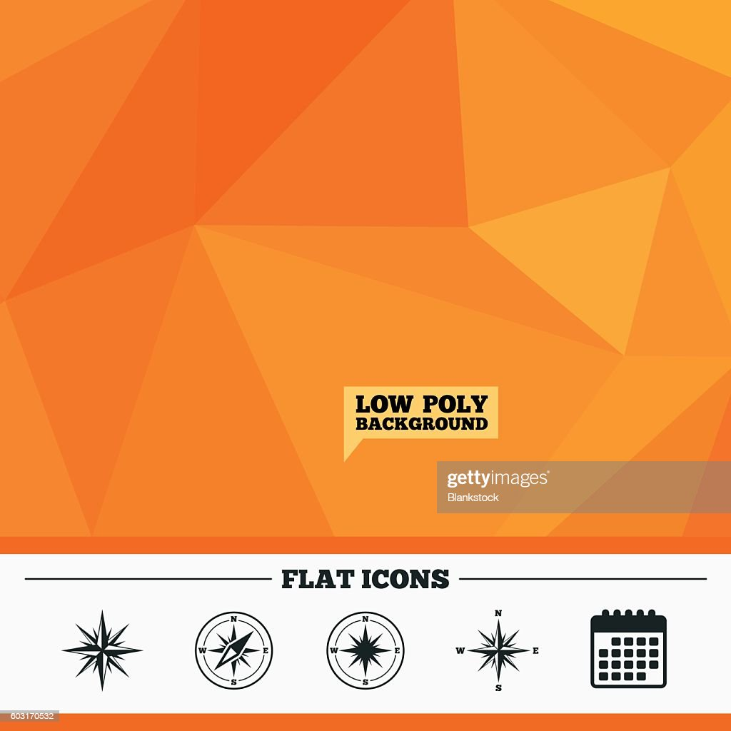 Windrose navigation icons. Compass symbols.