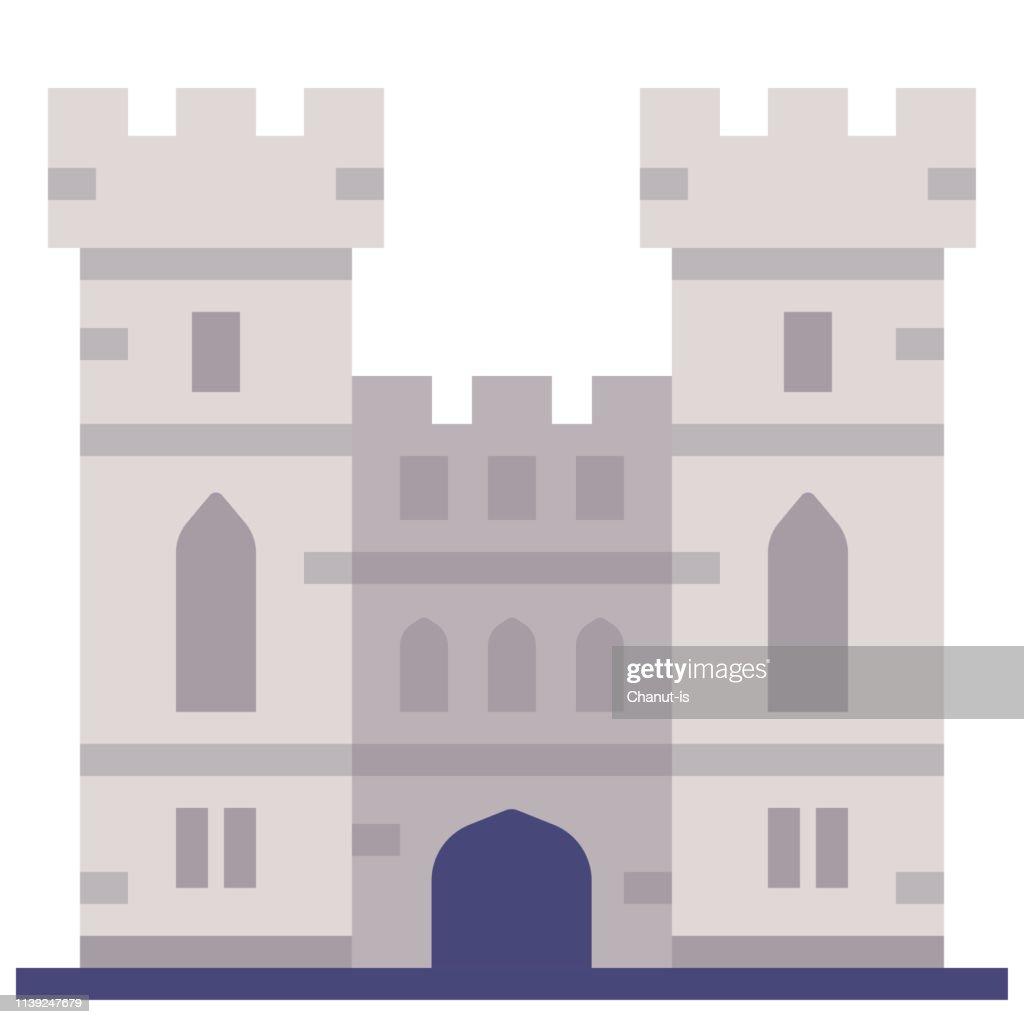 Windsor castle flat illustration