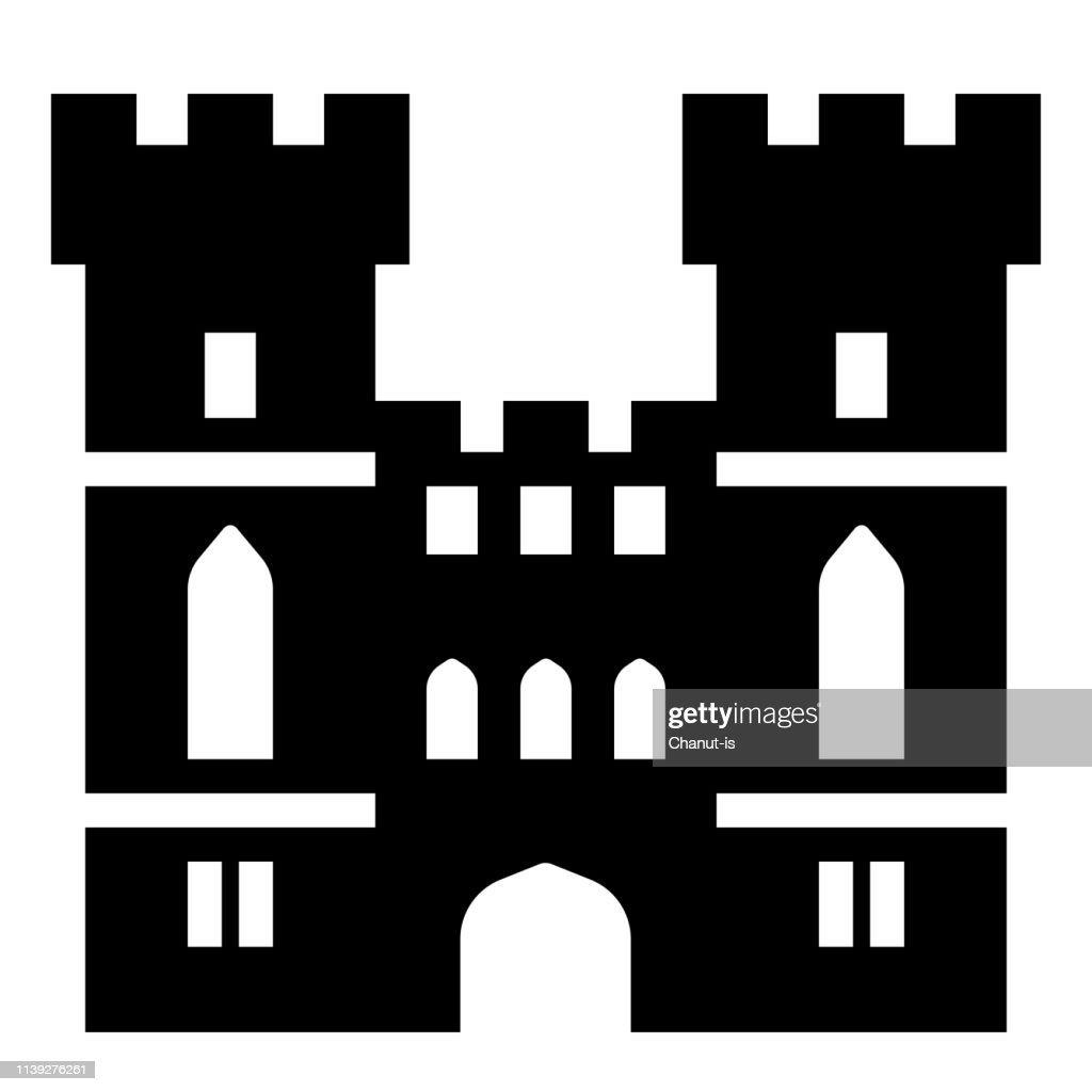 Windsor castle Solid illustration