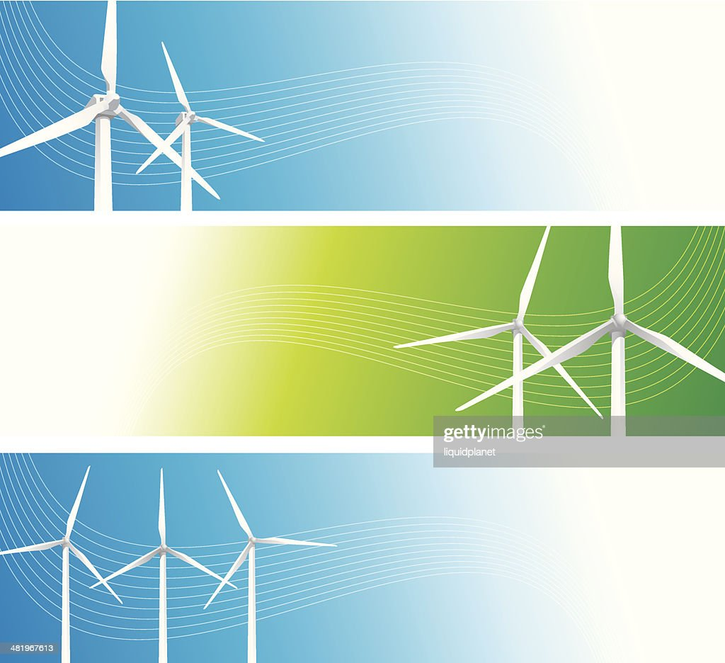 Windturbine Banners Vector Art   Getty Images