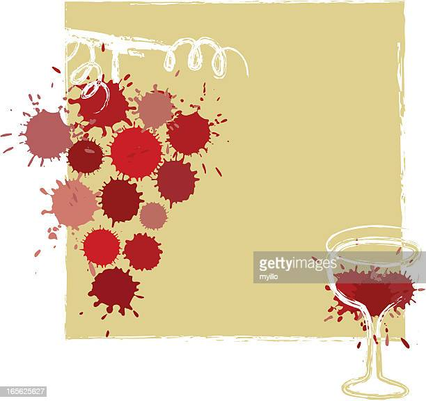 wine art - red wine stock illustrations, clip art, cartoons, & icons