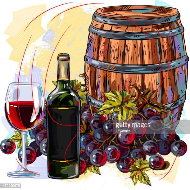 wine background - distillation stock illustrations, clip art, cartoons, & icons