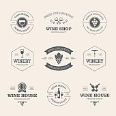 Wine badges and labels