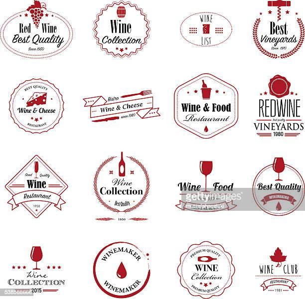 ilustraciones, imágenes clip art, dibujos animados e iconos de stock de tarjetas de vinos - botella de vino