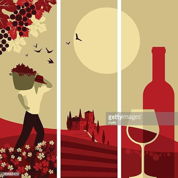 wine banners - red wine stock illustrations, clip art, cartoons, & icons