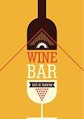 Wine bar poster design.