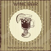 Wine bar sign and ads template