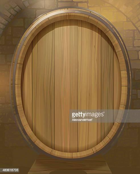 Barril de vinho em Winecellar