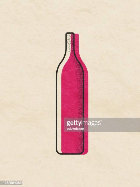 wine bottles illustration - wine bottle stock illustrations