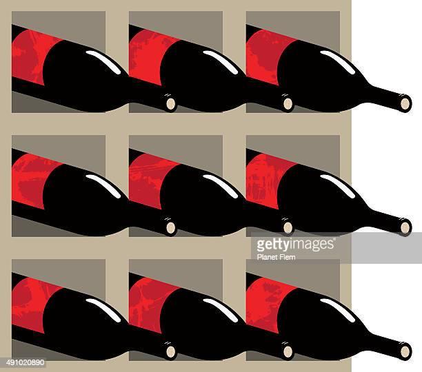 ワインワインセラー - ワインセラー点のイラスト素材/クリップアート素材/マンガ素材/アイコン素材