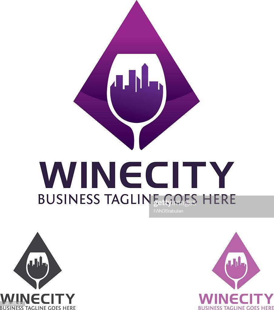 Wine City Vector Logo