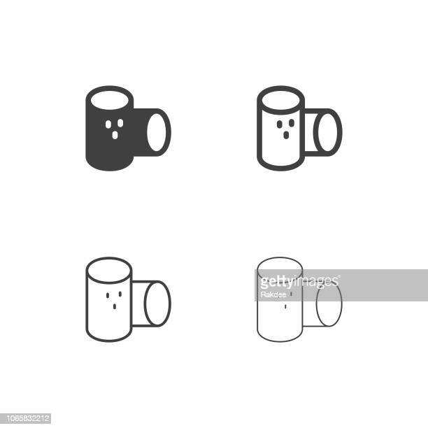 wine cork icons - multi series - champagne cork stock illustrations, clip art, cartoons, & icons