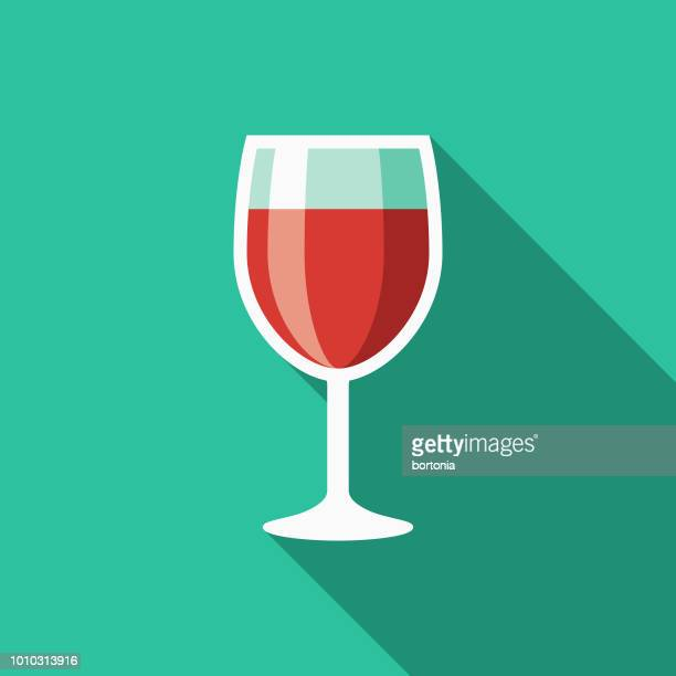 wine flat design italy icon - red wine stock illustrations, clip art, cartoons, & icons