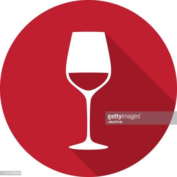 ワイングラスアイコンシルエット - ワインレッド点のイラスト素材/クリップアート素材/マンガ素材/アイコン素材