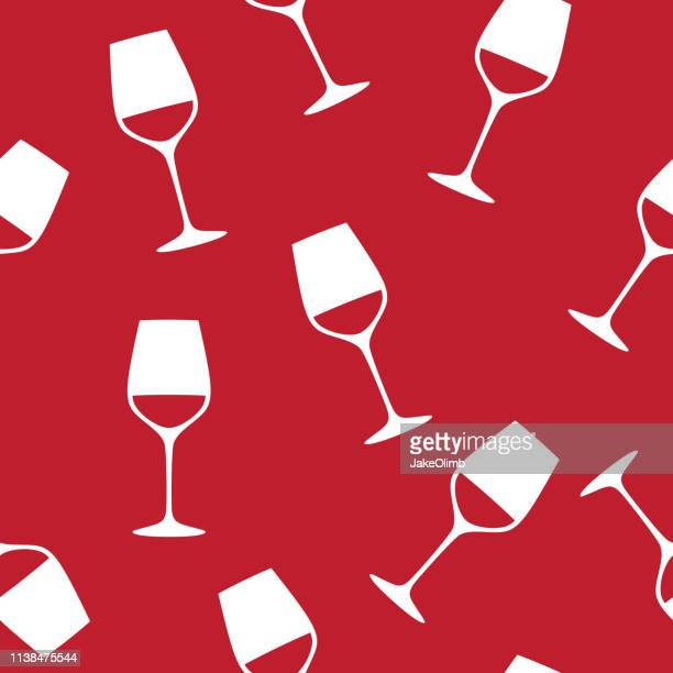 wine glass pattern - maroon stock illustrations