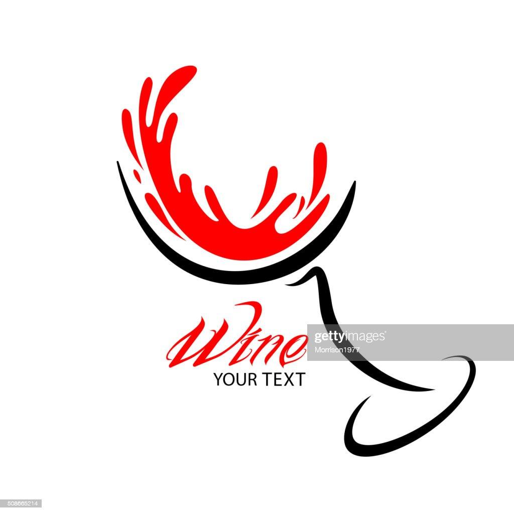 Wine glass vector Design