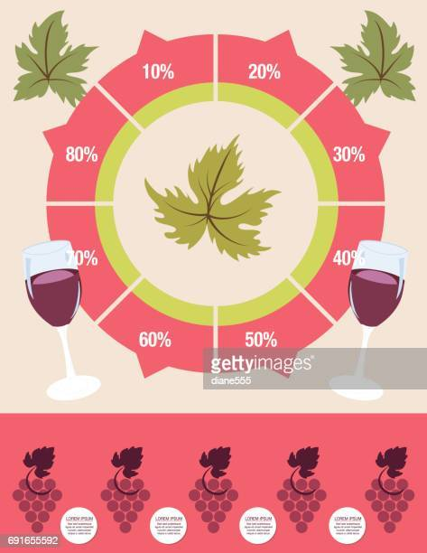 wine grapes infographic - macaroni stock illustrations, clip art, cartoons, & icons