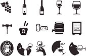 Wine icons - Illustration