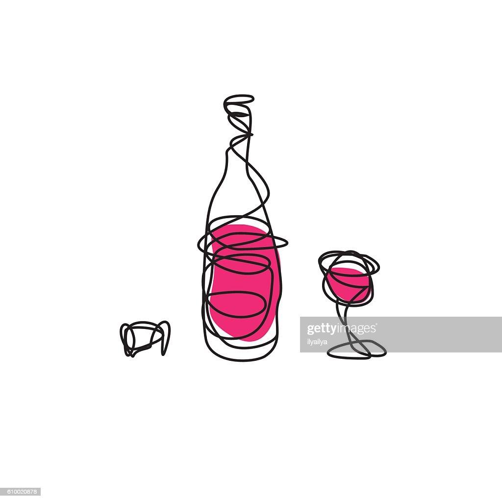 Wine List Cover Design Stock Illustration