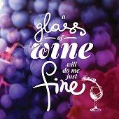 Wine list typographics.