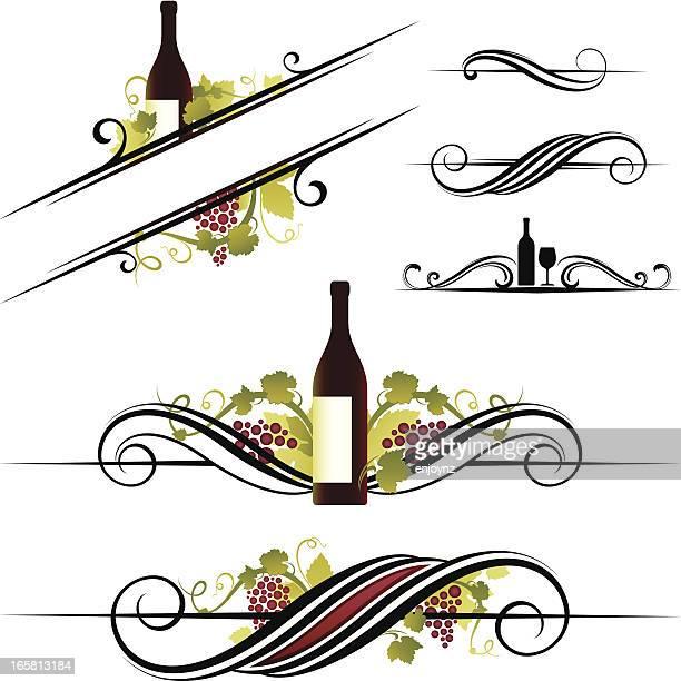Wein-Motiven