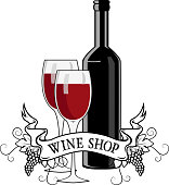 Wine shop label