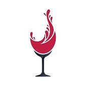 Wine splash concept, vector illustration