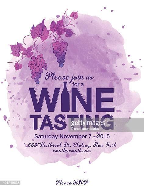 wine tasting event poster - grape stock illustrations, clip art, cartoons, & icons