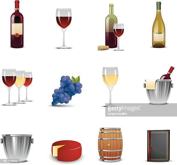 wine tasting icons - red wine stock illustrations, clip art, cartoons, & icons