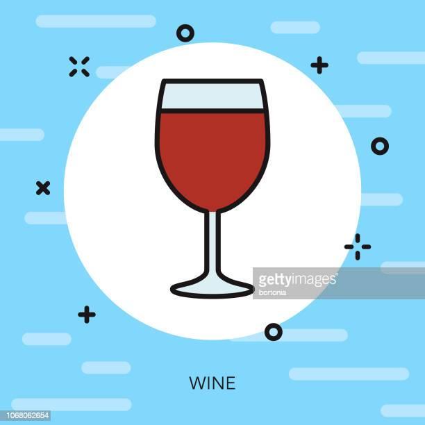 Wine Thin Line Greece Icon