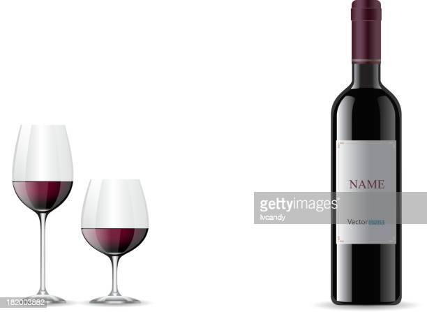 wine - red wine stock illustrations, clip art, cartoons, & icons