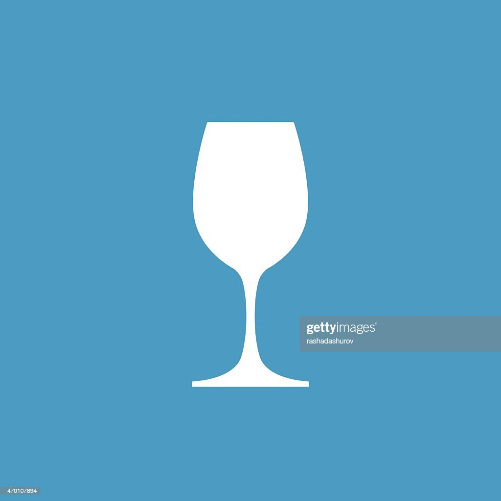 wineglass icon, white on the blue background